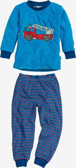 PLAYSHOES Schlafanzug in taubenblau / himmelblau / mischfarben, Produktansicht