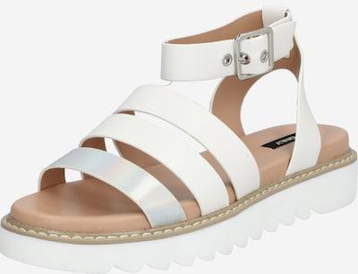 ONLY Sandale 'ONLMALU PU CHUNKY WRAP SANDAL' in weiß, Produktansicht