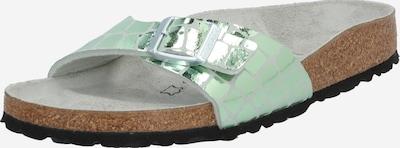 BIRKENSTOCK Mule 'Madrid Gator Gleam' en argent, Vue avec produit