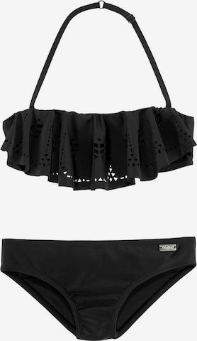 BUFFALO Bandeau-Bikini 'Split Buf' in Schwarz