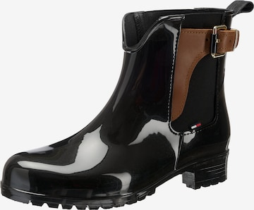 TOMMY HILFIGER Rubber boot 'Oxley' in Black