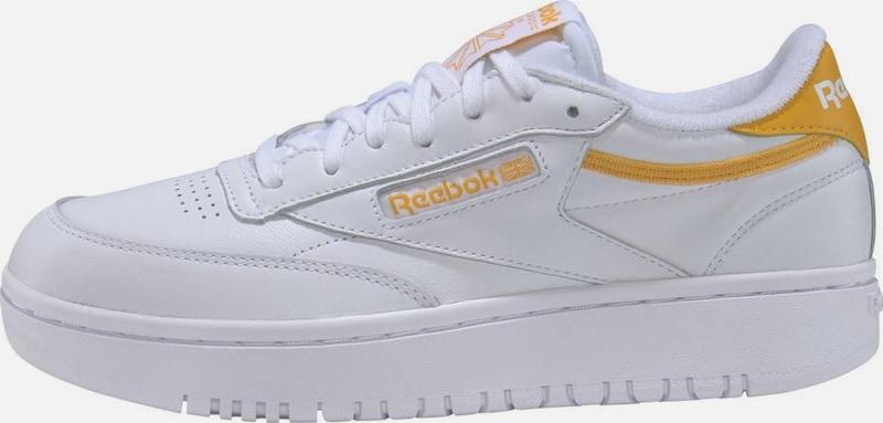 Reebok Classic Sneaker 'Club C Double' in gelb weiß