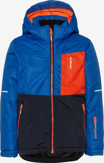 ICEPEAK Jacke 'Leith' in blau / kobaltblau / koralle, Produktansicht