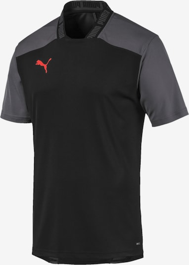 PUMA T-Shirt 'ftblNXT Pro' in grau / rot / schwarz, Produktansicht