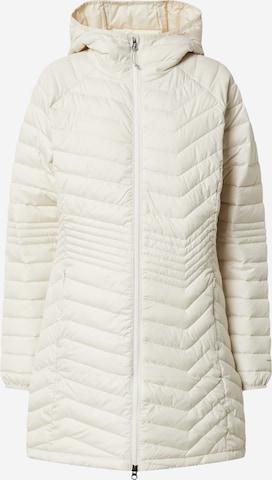 COLUMBIA Płaszcz outdoor 'Powder Lite Mid' w kolorze beżowy