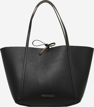 ARMANI EXCHANGE Shopper in hellbeige / schwarz, Produktansicht
