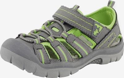 LURCHI Sandale 'Pete' in grau / hellgrün, Produktansicht