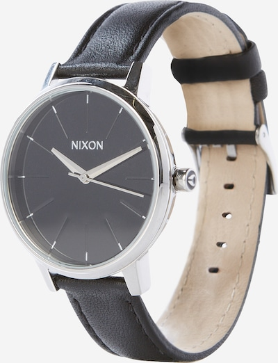 Nixon Analog klocka 'Kensigton Leather' i svart / silver, Produktvy