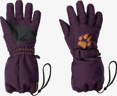 JACK WOLFSKIN Fingerhandschuhe in pflaume / orange / schwarz, Produktansicht