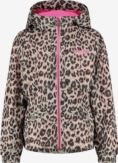 VINGINO Jacke 'Tyra' in kitt / braun / dunkelbraun / pink / schwarz, Produktansicht