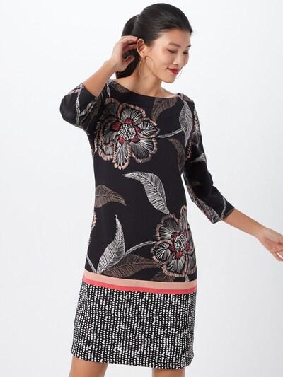 COMMA Kleid in hellbraun / puder / cranberry / schwarz / weiß, Modelansicht