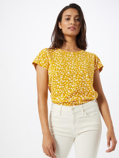 ESPRIT Koszulka w kolorze żółty / białym: Widok z przodu