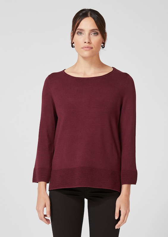 s.Oliver BLACK LABEL Pullover in bordeaux, Modelansicht