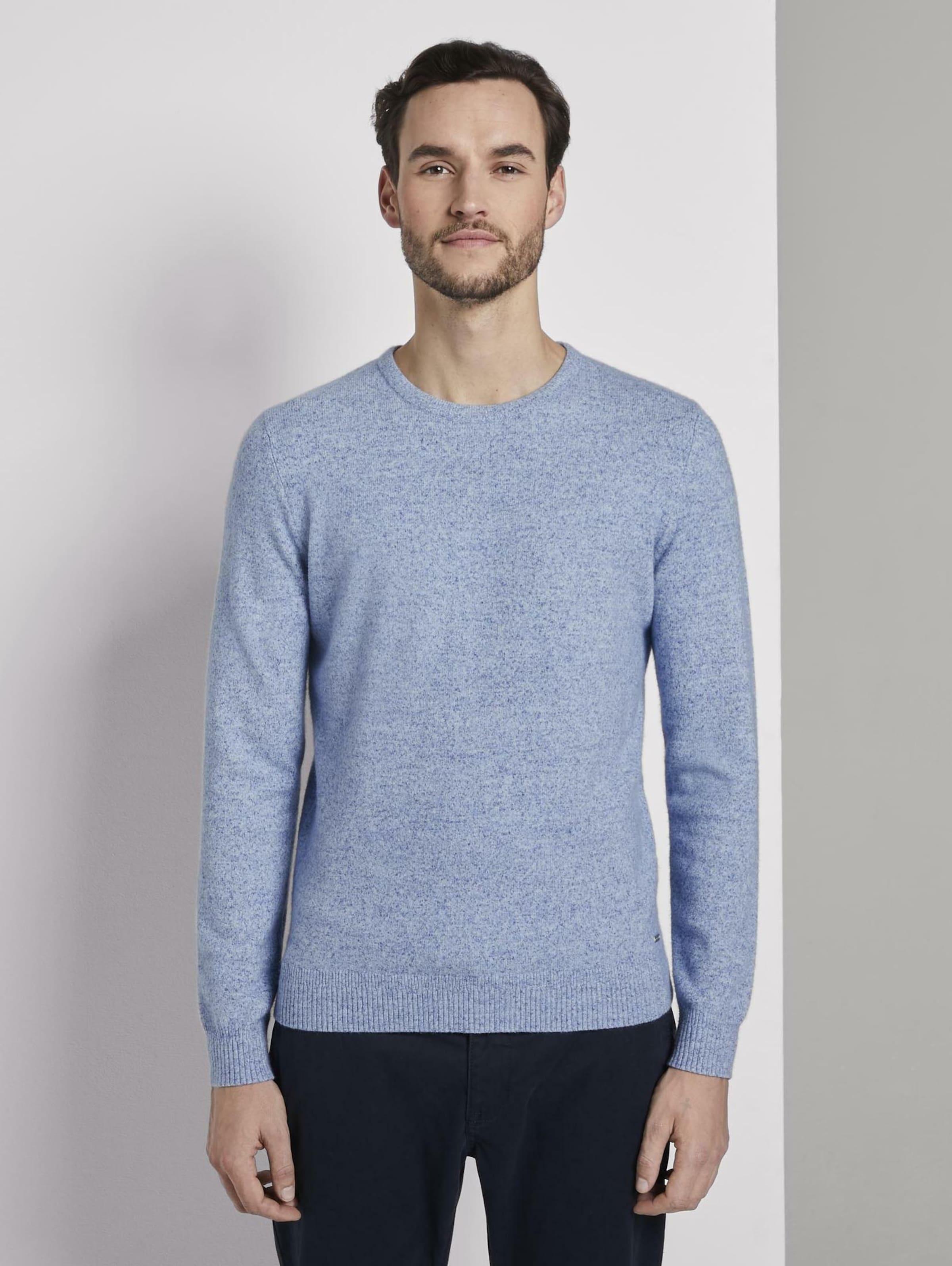 TOM TAILOR Pullover in blau Viskose 1016798009