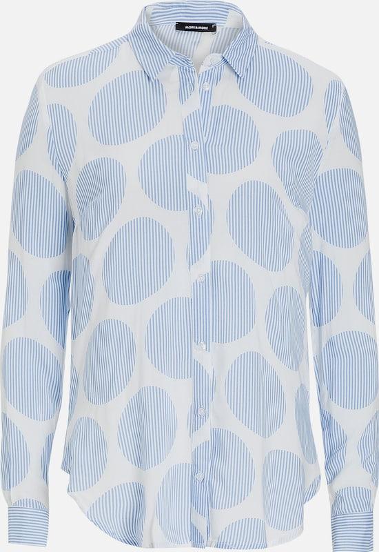 MORE & MORE Bluse, Streifen-Punkte