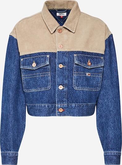 Tommy Jeans Jacke 'Cropped Trucker Jacket' in beige / blau, Produktansicht