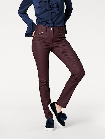 CLASS INTERNATIONAL FX Bodyform-Push-up-Jeans in bordeaux, Modelansicht