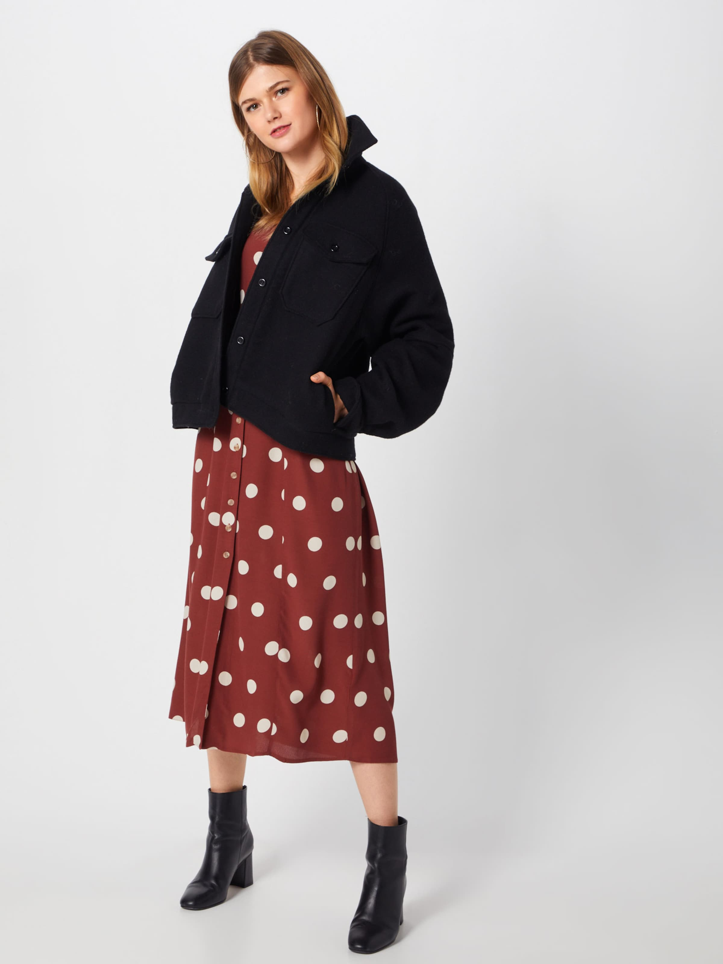 Look Look New New Kleid In Blutrot lFcK1J