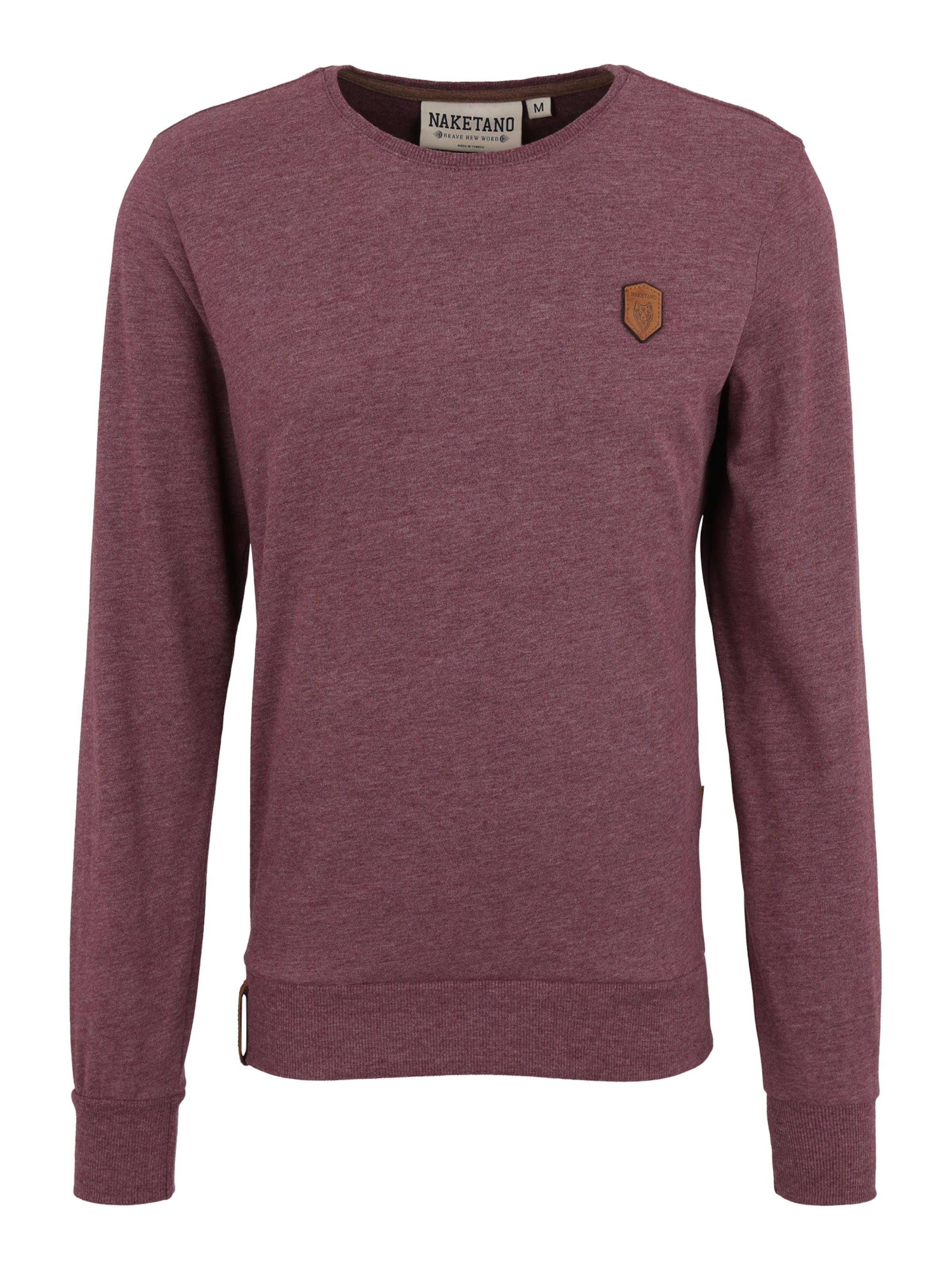 Sweat K shirt Naketano Bordeaux En 'al ohol' Yfyb76g