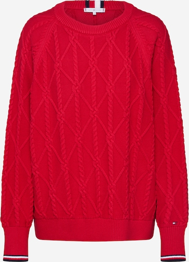 TOMMY HILFIGER Pullover 'ESSENTIAL KNOT' in rot, Produktansicht