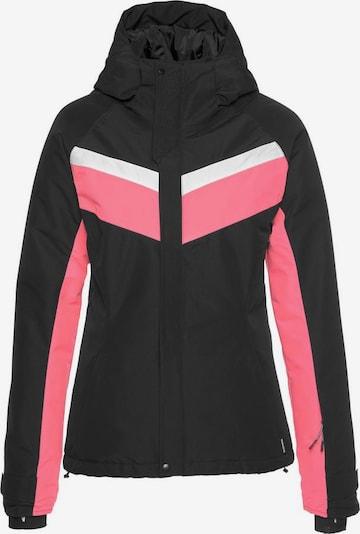 CHIEMSEE Skijacke in pink / schwarz / weiß, Produktansicht