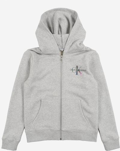 Calvin Klein Jeans Sweatjacke in graumeliert, Produktansicht