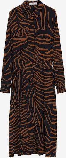 MANGO Kleid in rostbraun / schwarz, Produktansicht