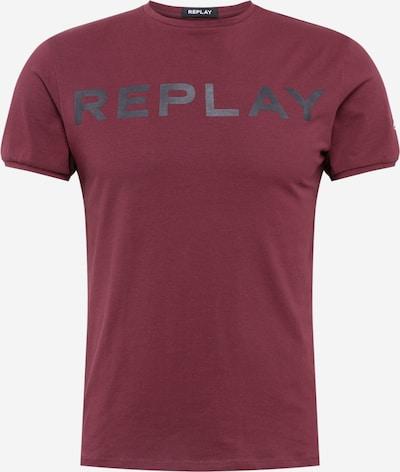 REPLAY T-Shirt in dunkelgrau / weinrot, Produktansicht