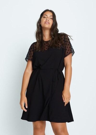 VIOLETA by Mango Kleid in schwarz, Produktansicht