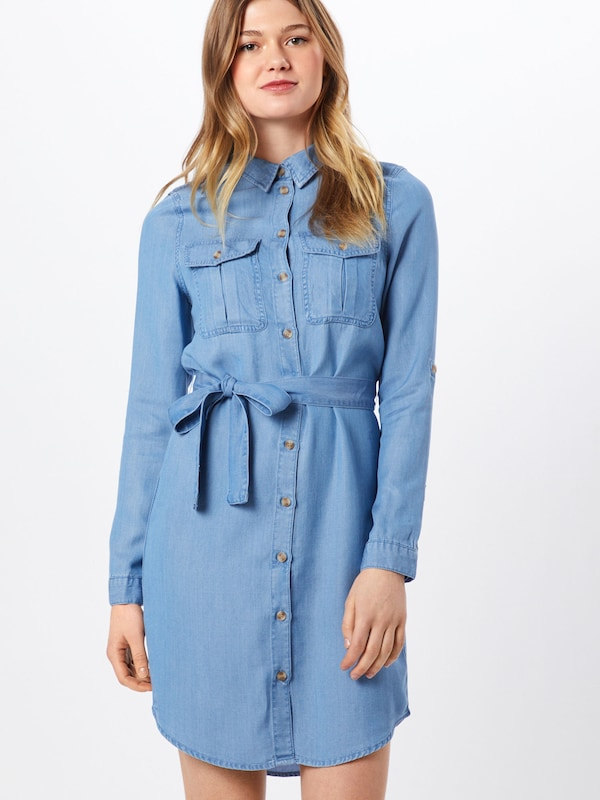 VERO MODA Kleid 'MIA' in blue denim, Modelansicht