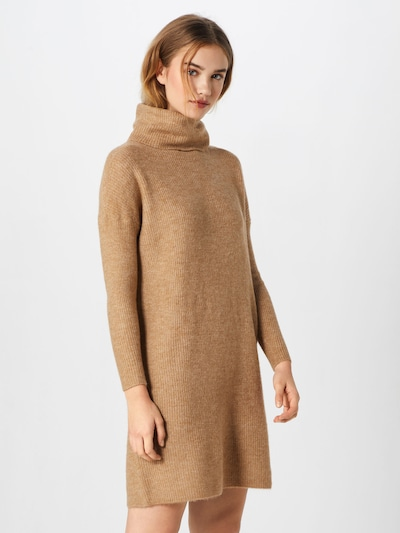 ONLY Strickkleid in camel: Frontalansicht