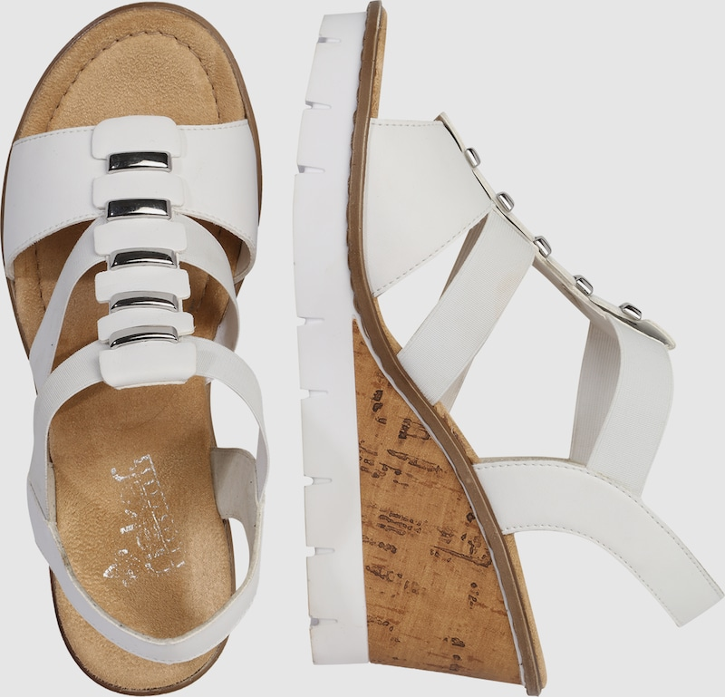 RIEKER Keilsandalette Verschleißfeste billige Schuhe Hohe Qualität