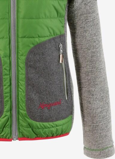 Almgwand Trachtenoutdoorjacke Damen mit leichter Steppung in grau / grün, Produktansicht