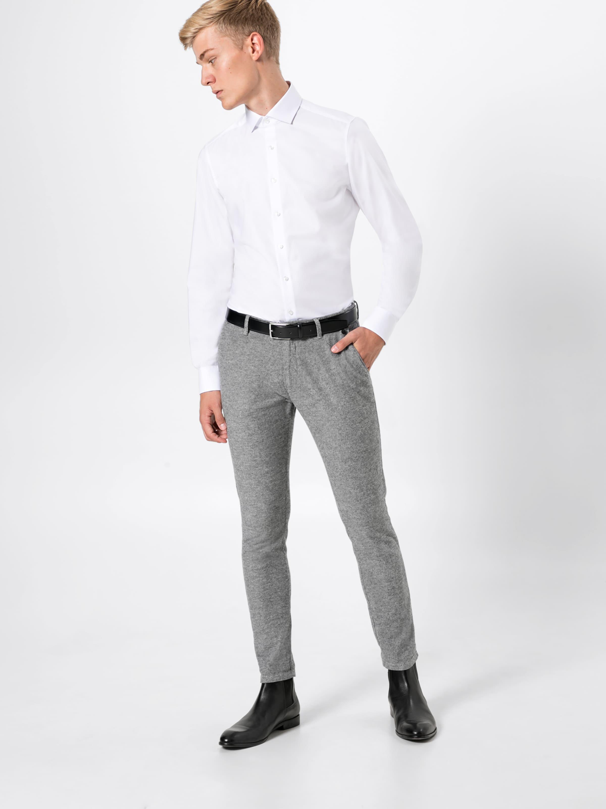 'level Twill' 5 Olymp Hemd Weiß In Uni PTOkuXZi