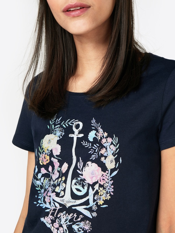 ESPRIT T-Shirt 'Floral Anchor '