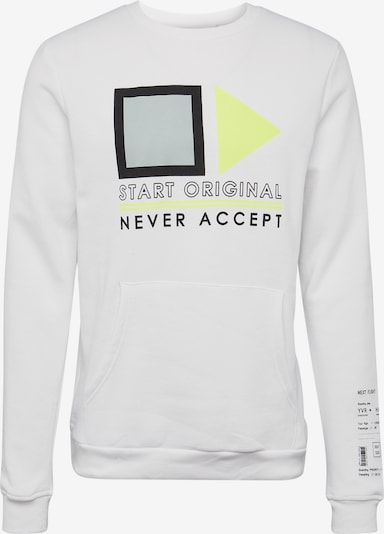 Hailys Men Sweat-shirt 'Neon Flight' en blanc, Vue avec produit