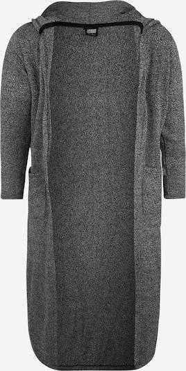 Urban Classics Curvy Abrigo de punto en gris / blanco, Vista del producto