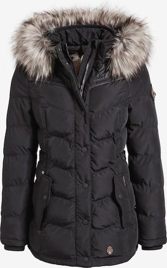 khujo Winterjas ' WINSEN3 ' in de kleur Zwart, Productweergave