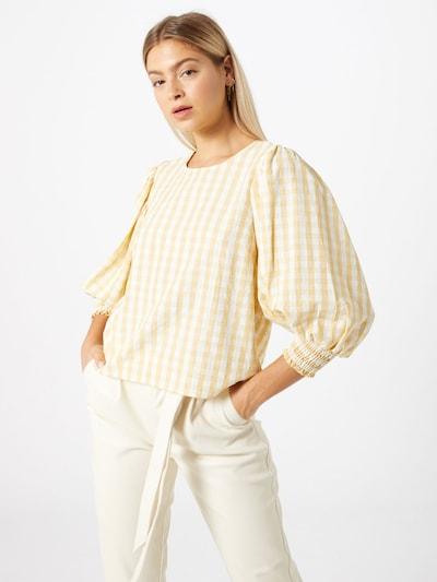 minimum Bluzka 'Sassari' w kolorze żółty / białym: Widok z przodu