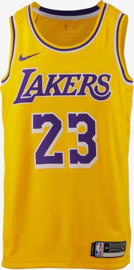 NIKE Trikot 'Lebron James Los Angeles Lakers' in limone / dunkellila / weiß, Produktansicht