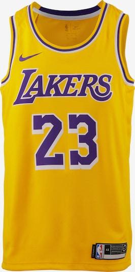NIKE Trikot 'Lebron James Los Angeles Lakers' in limone / dunkellila / weiß, Produktansicht