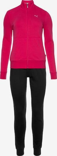 PUMA Trainingsanzug in fuchsia / schwarz, Produktansicht