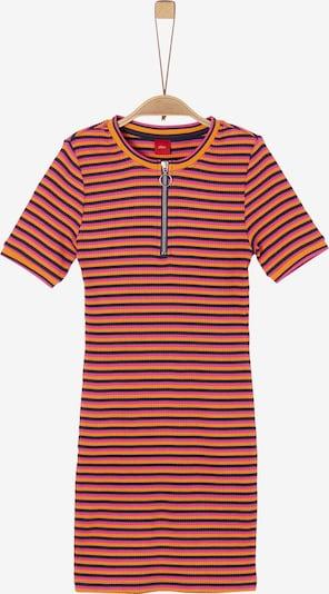 s.Oliver Kleid in orange / pink / schwarz, Produktansicht