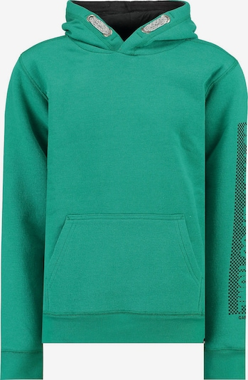 GARCIA Sweatshirt in schwarz / silber / weiß: Frontalansicht