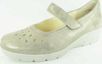 SEMLER Ballerinas in beige / grünmeliert, Produktansicht