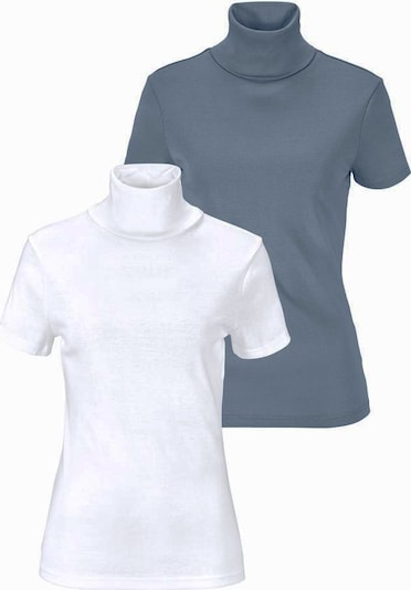 FLASHLIGHTS Rollkragenshirt (Packung, 2er-Pack) in taubenblau / weiß, Produktansicht