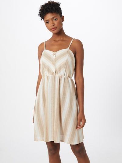 Hailys Kleid 'Ava' in hellbeige / weiß, Modelansicht