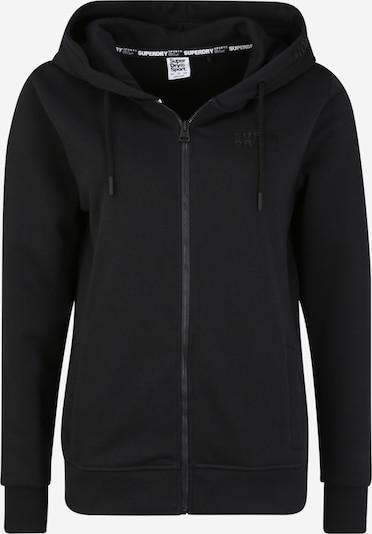 Superdry Sport-Sweatjacke in schwarz, Produktansicht