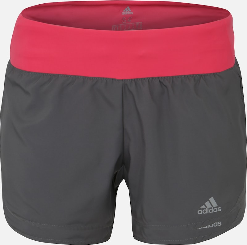 "ADIDAS PERFORMANCE Shorts 'RUN IT SHORT W 3""' in grau / pink, Produktansicht"