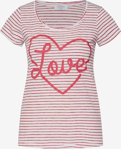 Sublevel Shirt in kirschrot / offwhite, Produktansicht